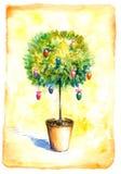 Baum mit Eiern Stockbilder