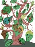 Baum mit Gesichtern stockfotografie