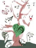 Baum mit Gesichtern Lizenzfreies Stockfoto