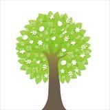 Baum mit Ikonen Lizenzfreie Stockfotografie