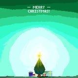 Baum-Pixel Art Offer Lizenzfreie Stockbilder