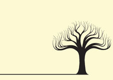 Baum-Schattenbild-Vektor-Illustration stock abbildung
