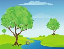 Baum-Schwingen Stockfoto