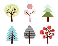 Baum-Set Stockfotos