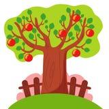 Baum am Sommer lizenzfreie abbildung