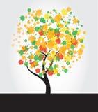 Baum-TinteSplatter lizenzfreie abbildung