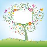 Baum und Anschlagtafel stock abbildung
