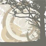 Baum- und grungehintergrund stock abbildung