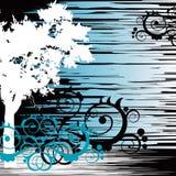 Baum- und grungehintergrund Stockbild