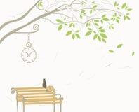 Baum und Katze Stockfotos