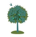 Baum und Vögel. Lizenzfreie Stockfotografie