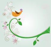 Baum und Vogel Stockfotografie
