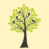 Baum und Vogel stock abbildung