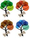 Baum vier Jahreszeiten stock abbildung