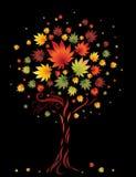 Baum von den bunten Herbstblättern. Danksagung Lizenzfreie Stockfotos