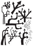 Baum von Pfeilen (Vektor eingestellt) Stockfoto