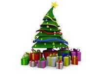 Baum Weihnachten3d Stockfoto