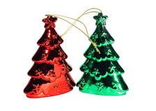 Baum-Weihnachtsdekorationen der Nahaufnahme schöne Stockfotos