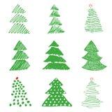 Baum-Weihnachtsillustration Stockfoto