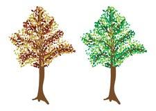 Baum in zwei Farben Stockbild