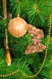 Baum-Zweig des neuen Jahres lizenzfreies stockfoto