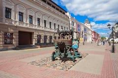 Bauman Street in Kazan. KAZAN, RUSSIA - JUNE 30, 2016: Bauman Street is a pedestrian street in the heart of Kazan, the capital of the Republic of Tatarstan Stock Photos