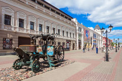 Bauman Street in Kazan. KAZAN, RUSSIA - JUNE 30, 2016: Bauman Street is a pedestrian street in the heart of Kazan, the capital of the Republic of Tatarstan Stock Photo