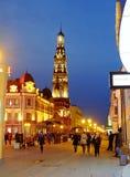 Baumanastraat, Kazan Rusland Stock Foto's