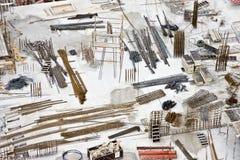 Baumaterialien ausgebreitet auf Site Lizenzfreies Stockbild