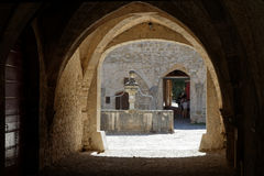 A Baume Abbey passageway Royalty Free Stock Images