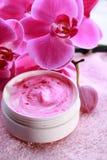 baume de station thermale de bien-être d'orchidée Image stock