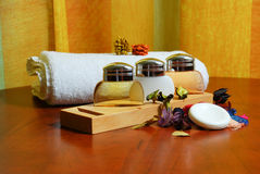 Baume et nettoyeur de shampooing Photographie stock