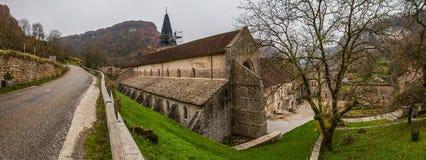 Baume-les-Messieurs, France - a abadia II fotos de stock royalty free