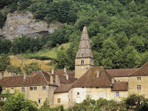Baume les messieurs village. Jura franche compte france europe royalty free stock photos