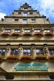 Baumeisterhaus in Rothenburg-ob der Tauber, Deutschland Lizenzfreies Stockfoto