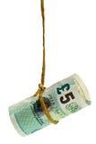 Baumelndes britisches Pound lizenzfreie stockbilder