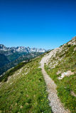 Baumenheimer Weg przy Hochvogel górą, Austria Fotografia Stock