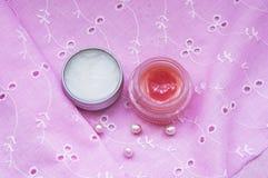 Baumes à lèvres Photo stock