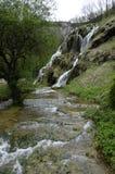 Baumes de waterval van Les Messieurs in het Juragebergte, Frankrijk royalty-vrije stock foto