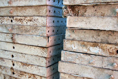 Baumetallschablonen lizenzfreie stockbilder
