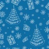 Baumgekritzel des Weihnachtsneuen Jahres Lizenzfreies Stockbild