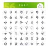 Baumgrenzeikonen eingestellt stockfotos