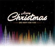 Baumhintergrund der Zusammenfassung der frohen Weihnachten bunter vektor abbildung