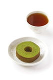 Baumkaka för grönt te Arkivfoto