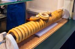 Baumkuchen或树蛋糕,德语层状唾液蛋糕 免版税库存照片
