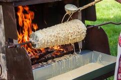 Baumkuchen baking royalty free stock image