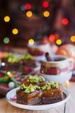 Baumkuchen med phistachio Arkivfoto