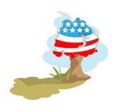 Baummarkierungsfahne von USA vektor abbildung