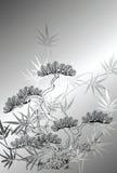 Baummuster der japanischen Art Stockfotografie