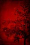 Baummuster im Rot Lizenzfreies Stockfoto